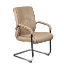 Office  visitor Chair  Leather with arm support AIS 14