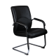 Καρέκλα Επισκέπτη Γραφείου δερμάτινη με μπράτσο στήριξης AIS 39