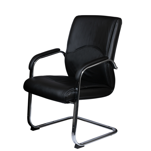 Office Visitor Chair Leather With Arm Support Ais 39