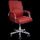 Καρέκλα Γραφείου Προεδρική δερμάτινη με μπράτσο στήριξης AIS 40