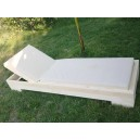 Wooden Sunbed with tilting