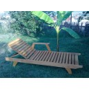 Wooden Sunbed with armrest and cupholder ais 03