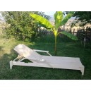 Sunbed Wooden with double arm support ais 04