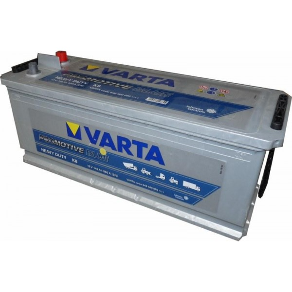 car battery auto varta 140ah k8 800a en 12v promotive blue truck commercial. Black Bedroom Furniture Sets. Home Design Ideas