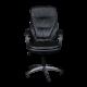 Καρέκλα Γραφείου Προεδρική δερμάτινη με μπράτσο στήριξης AIS 16